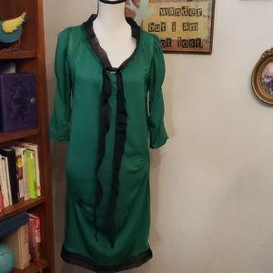 Diane Von Furstenberg Green Silk dress size